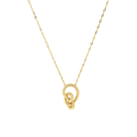 Mini Knot Rope Necklace in 10ct Yellow Gold