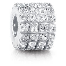 Sterling Silver & Cubic Zirconia Charm