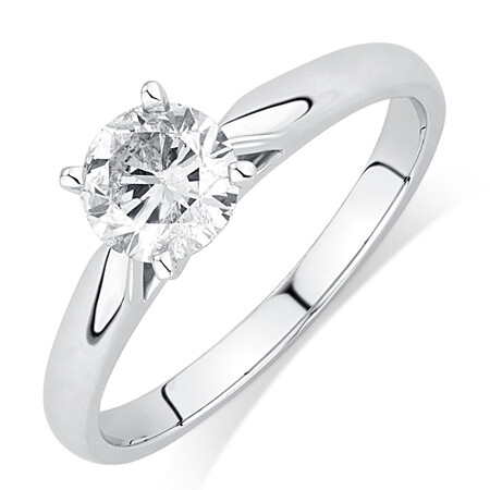 Evermore Solitaire Engagement Ring with a 0.70 Carat Diamond in 14ct White Gold