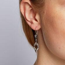 Drop Earrings in 10ct White Gold