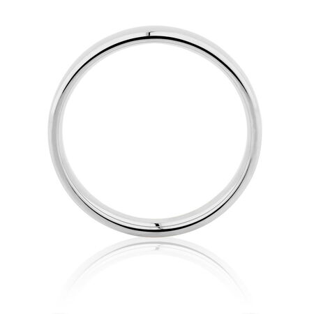 Wedding Band in 14ct White Gold