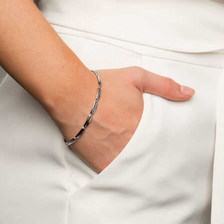 """19cm (7.5"""") Bracelet in 10ct White Gold"""