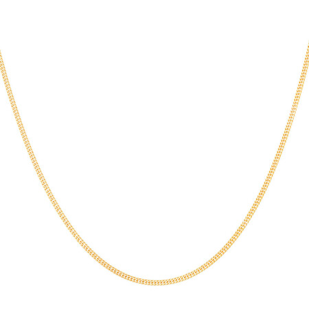 """45cm (18"""") Double Curb Chain in 10ct Yellow Gold"""
