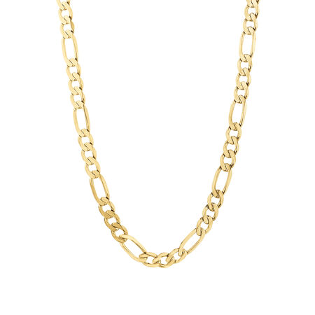 Figaro Chain in 10ct Yellow Gold