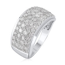 Ring with 1.75 Carat TW of Diamonds in 10ct White Gold
