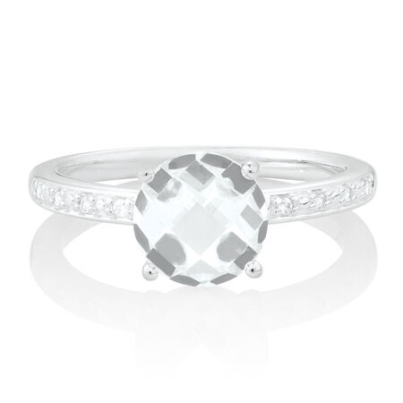 Stacker Ring with Cubic Zirconia in Sterling Silver