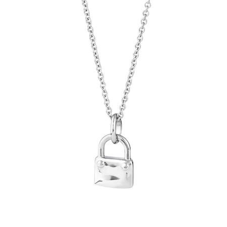 Lock Pendant in Sterling Silver