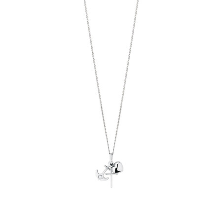 Faith, Hope & Charity Pendant in 10ct White Gold