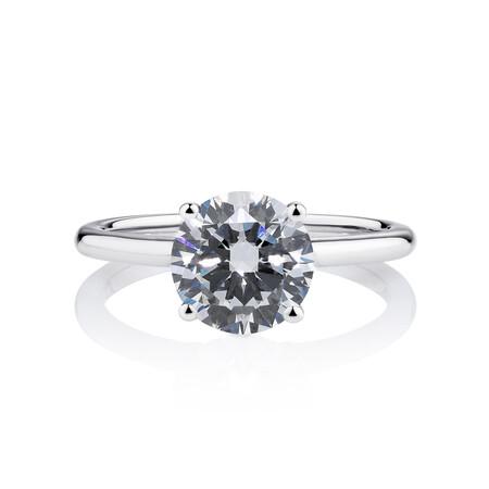 Laboratory-Created 2 Carat Diamond Ring in 14ct White Gold