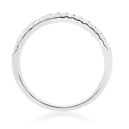 Wedding Band with 0.20 TW of Diamonds in 14ct White Gold