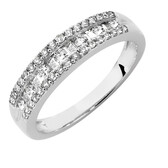 Ring with 1/2 Carat TW of Diamonds in 10ct White Gold