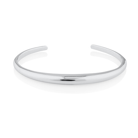 Polished Cuff Bangle In Sterling Silver