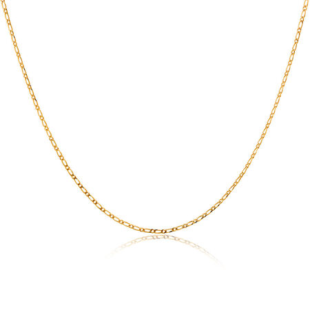 "45cm (18"") Figaro Chain in 10ct Yellow Gold"