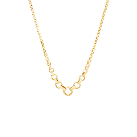 """45cm (17"""") Graduated Belcher Chain in 10ct Yellow Gold"""