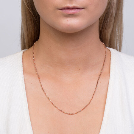 """50cm (20"""") Hollow Belcher Chain in 10ct Rose Gold"""