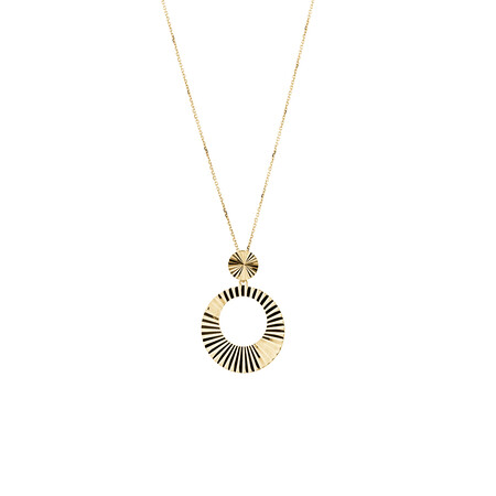 Circle Pendant in 10ct Yellow Gold