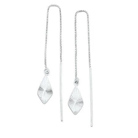 Thread Earrings in Sterling Silver