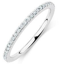 Sir Michael Hill Designer GrandAria Wedding Band with 0.31 Carat TW of Diamonds in 14ct White Gold