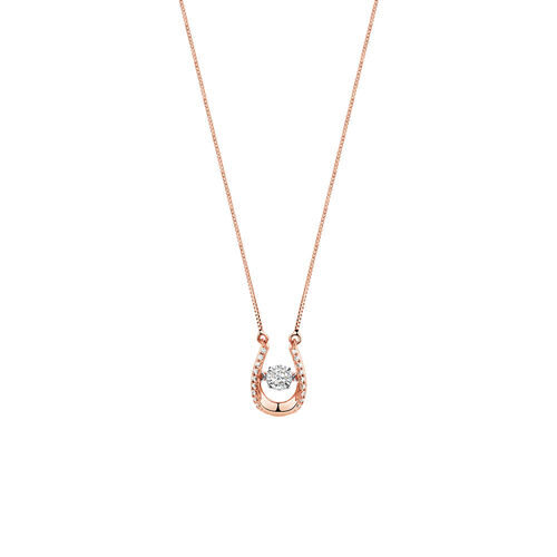 Everlight Pendant with 0.13 Carat TW of Diamonds in 10ct Rose Gold