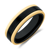 Ring in Black Titanium & 10ct Yellow Gold