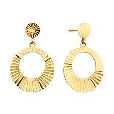 Circle Drop Earrings in 10ct Yellow Gold