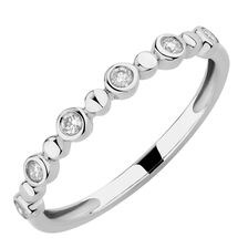 Bubble Ring with 0.12 Carat TW of Diamonds in 10ct White Gold