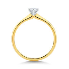 Solitaire Engagement Ring with a 0.34 Carat Diamond in 18ct Yellow & White Gold