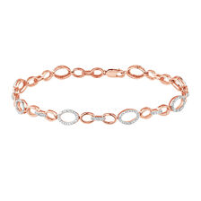 Bracelet with 1/5 Carat TW of Diamonds in 10ct Rose Gold