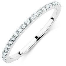 Sir Michael Hill Designer GrandArpeggio Wedding Band with 0.36 Carat TW of Diamonds in 14ct White Gold