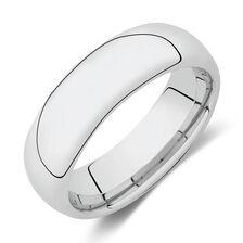 Ring in White Tungsten