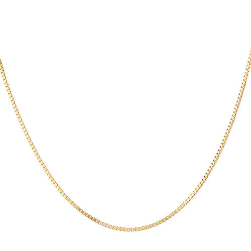 "55cm (22"") Box Chain in 10ct Yellow Gold"
