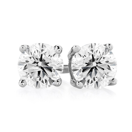 Stud Earrings with 1/2 Carat TW of Diamonds in 14ct White Gold