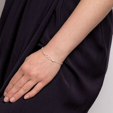 Infinity Bracelet with Cultured Freshwater Pearls in Sterling Silver