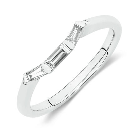 Online Exclusive - Wedding Band with 0.20 Carat TW of Baguette Diamonds in 14ct White Gold