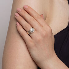 Engagement Ring with 1 1/2 Carat TW of Diamonds in 10ct Yellow Gold