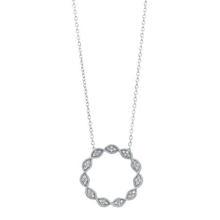 TwistPendant with0.15 Carat TW of Diamonds in Sterling Silver