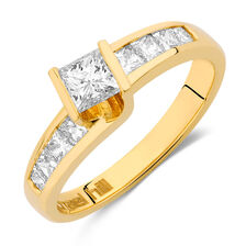 Engagement Ring with 1 Carat TW of Diamonds in 18ct Yellow Gold