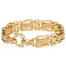 "19cm (7.5"") Gate Bracelet in 10ct Yellow Gold"