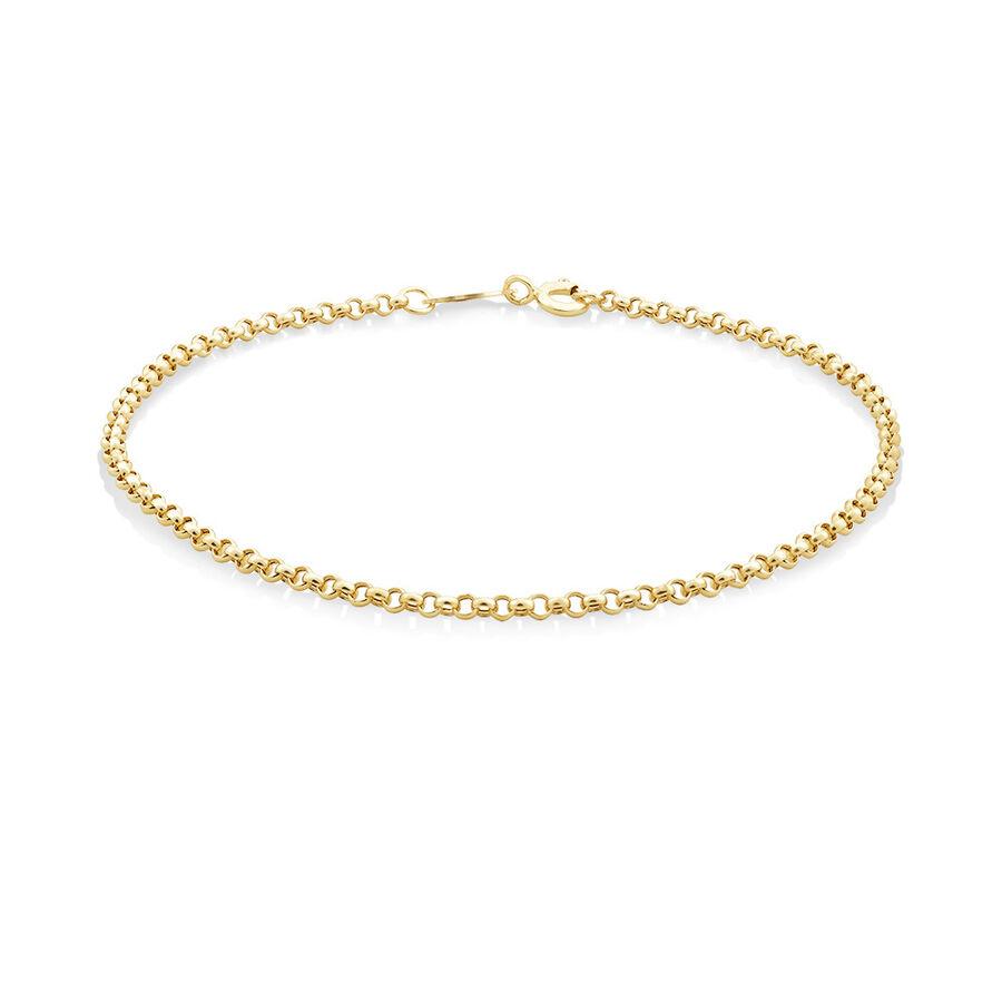 "21cm (8"") Hollow Belcher Bracelet in 10ct Yellow Gold"
