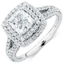 Sir Michael Hill Designer GrandArpeggio Engagement Ring with 2.45 Carat TW of Diamonds in 14ct White Gold