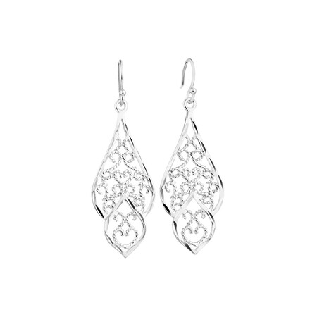 Drop Earrings in Sterling Silver