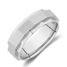 Faceted Ring in Stainless Steel