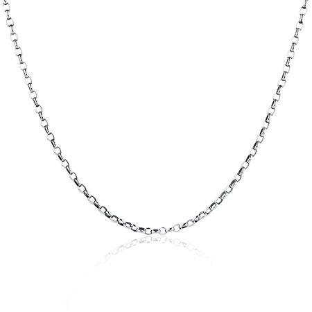 """55cm (22"""") Oval Belcher Chain in Sterling Silver"""