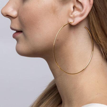68mm Open Hoop Earrings In 10ct Yellow Gold