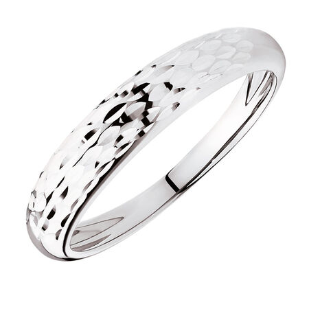 Dome Stacker Ring in 10ct White Gold