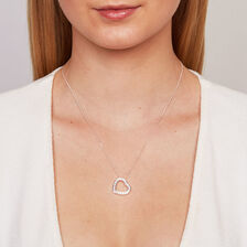 Online Exclusive - Pendant with a Cubic Zirconia in Sterling Silver