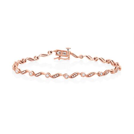 Bracelet with 0.50 Carat TW of Diamonds in 10ct Rose Gold