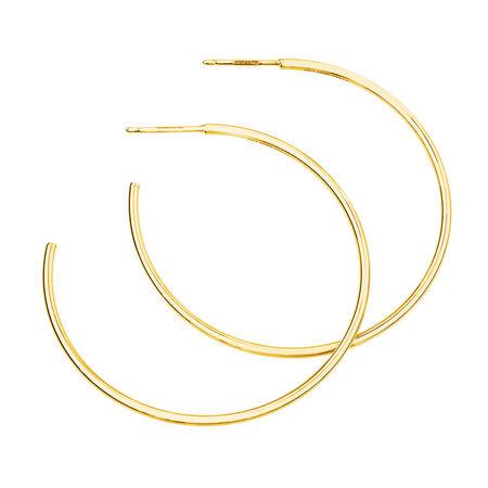 43mm Hoop Earrings In 10ct Yellow Gold