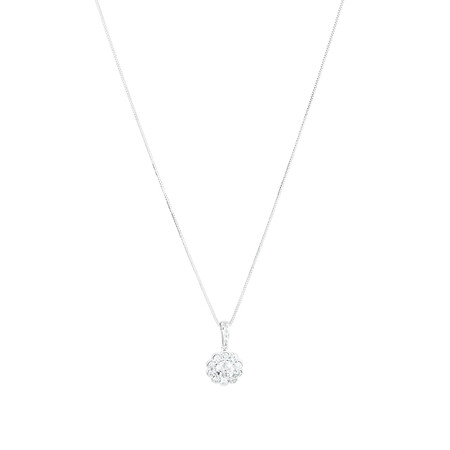 Pendant with 0.75 Carat TW of Diamonds in 14ct White Gold