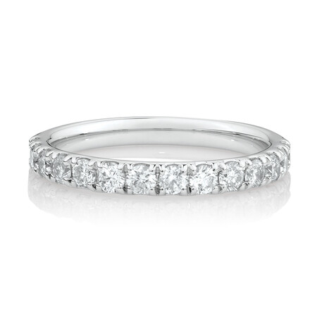 Evermore Wedding Band with3/4 Carat TW Diamonds in 14ctWhite Gold